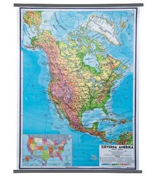Sjeverna Amerika, fizička, 1:10.000.000
