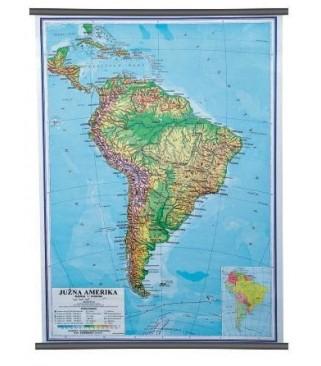 Južna Amerika, fizička, 1:10.000.000
