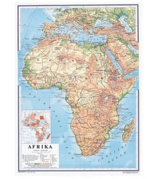 Afrika, fizička, 1:10.000.000