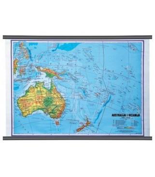 Australija i Oceanija, fizička, 1:10.000.000