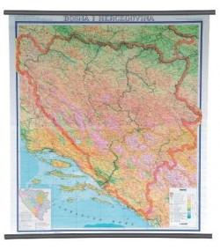 Bosna i Hercegovina, fizička, 1:300.000