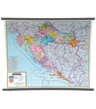 Republika Hrvatska, administrativna podjela, 1:500.000