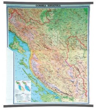 Gorska Hrvatska, fizička, 1:130.000