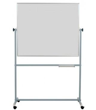 Školska ploča na stalku 200x100 cm, bijelo-bijela