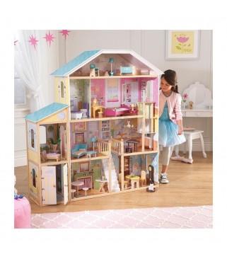 Velika kućica za lutke s garažom
