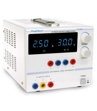 Digitalno laboratorijsko napajanje 6035 D 0 - 30 V/0 - 2,5 A DC, 5/12 V/0,5 A fiksno