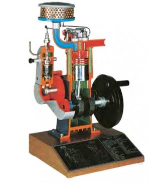 Model indirektnog ubrizgavanja četverotaktnog dizel motora (na bazi)