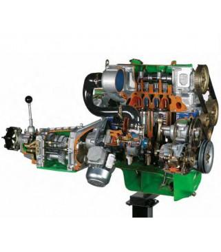 Stražnji pogon turbo dizel motora s mjenjačem kvačila